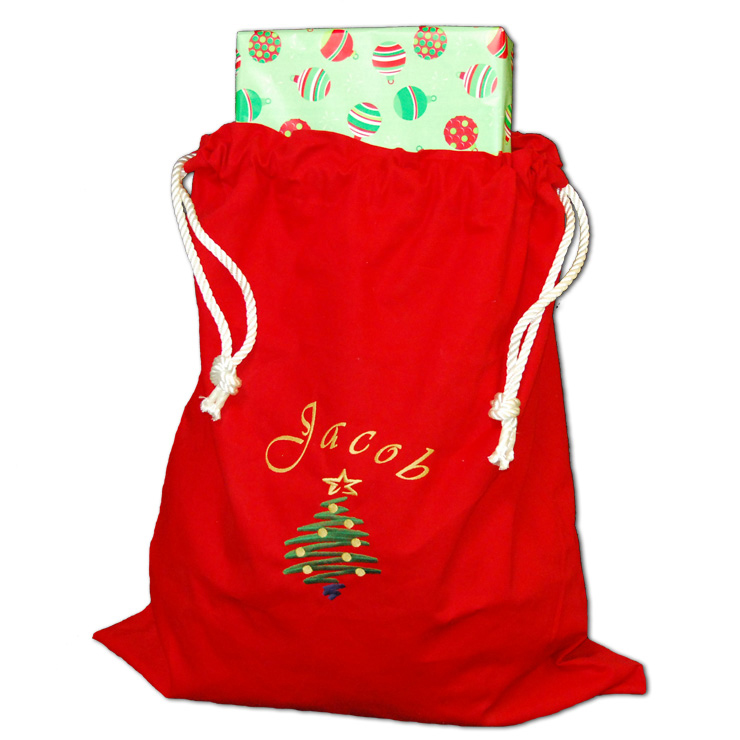 Christmas Tree Santa Bag
