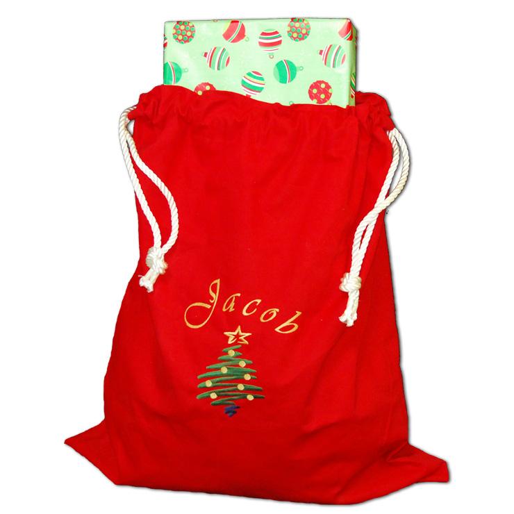 Christmas Tree Santa Bag