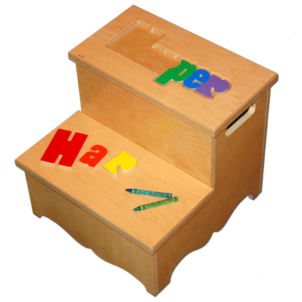 two step name puzzle stool letters out