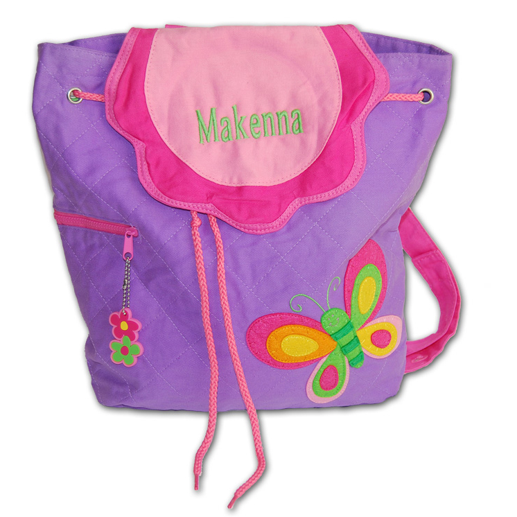 personalized purple back pack