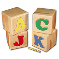 Learning Letter Blocks