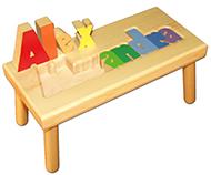 Large Name Puzzle Stool