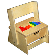 Small Name Puzzle Stool In Primary Colors Damhorst Toys
