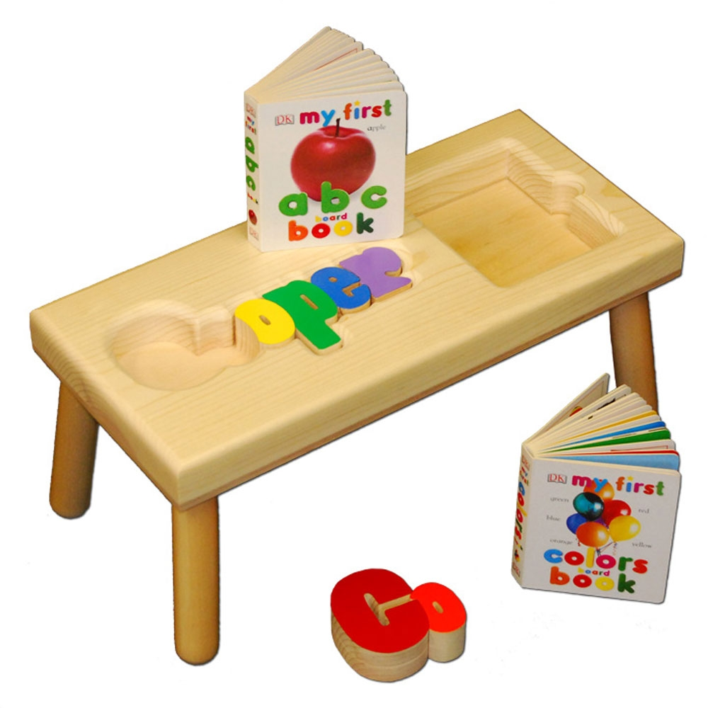Name Puzzle And Book Stool Damhorst Toys Amp Puzzles Inc Store