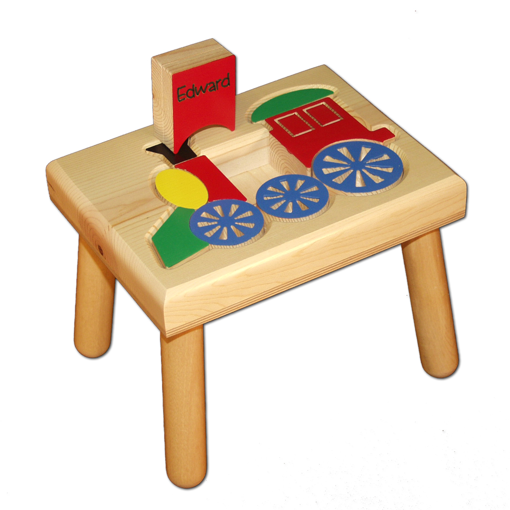 Engraved Train Name Puzzle Stool Damhorst Toys Amp Puzzles