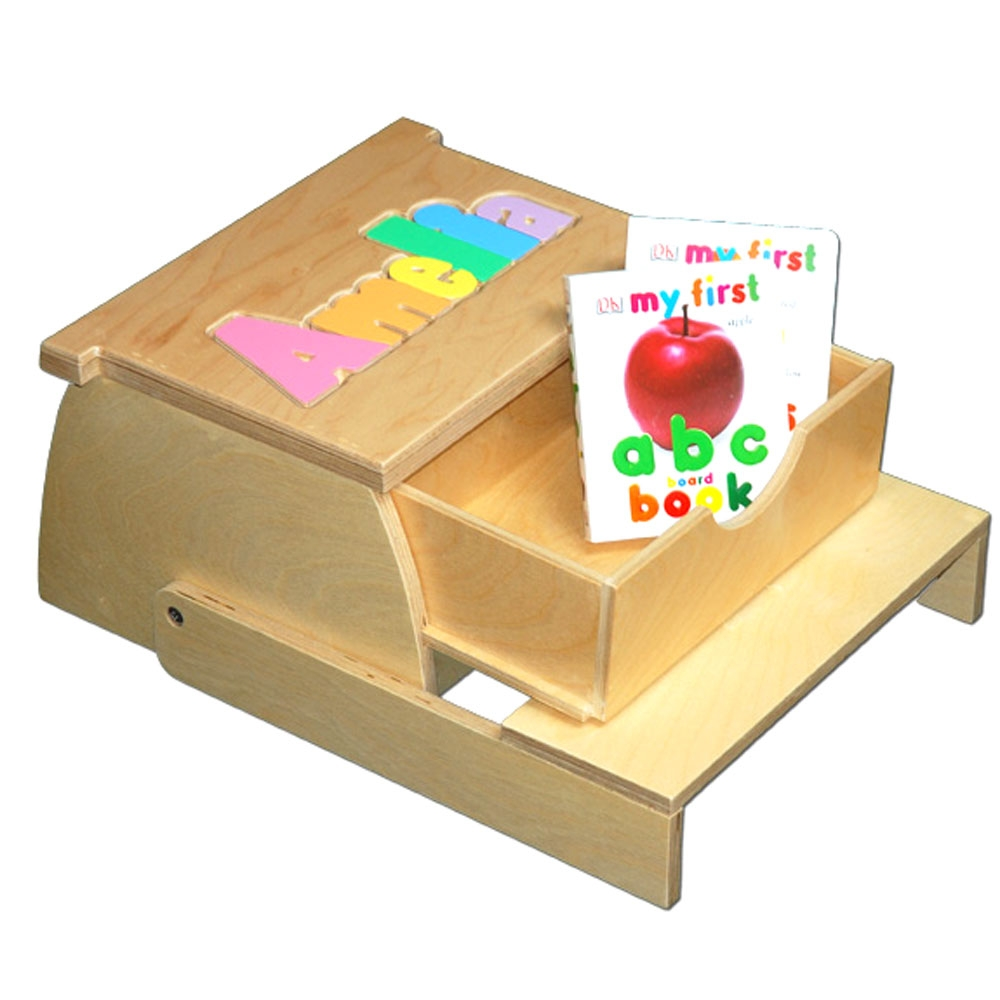Step N Store Name Puzzle Stool Pastel Colros With Books