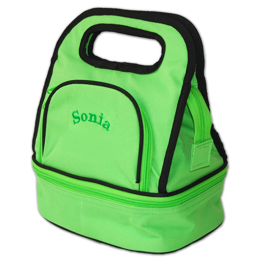 Personalized Embroidered Green Lunch Tote Damhorst Toys