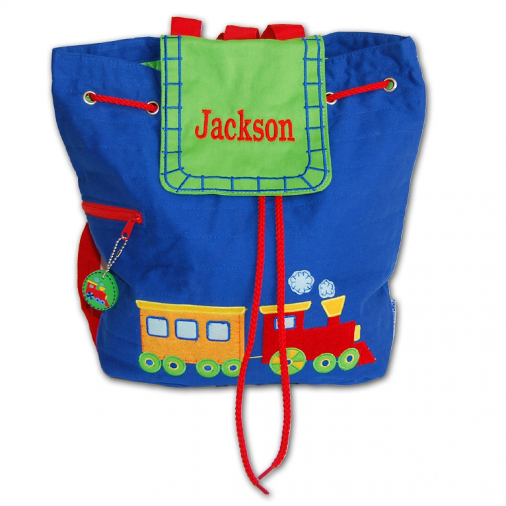 Personalized Embroidered Train Backpack Damhorst Toys