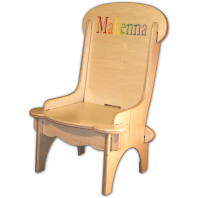 personalized wooden chair