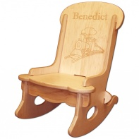 personalized wooden rocking chair