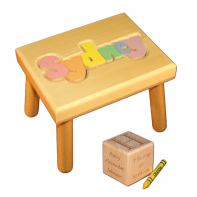 pastel stool and birth block