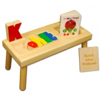 Name Puzzle Stool with lid