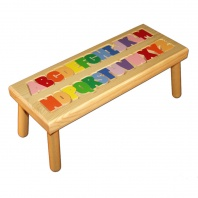 A thru Z Puzzle Step Stool