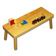 Name Puzzle Stool with Train