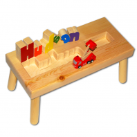 Fire Truck Name Puzzle Stool letters out