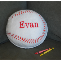 embroidered baseball pillow
