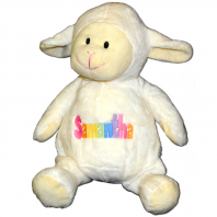 embroidered lamb pastel colors