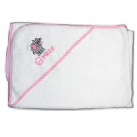 personalized bath towel with elephant
