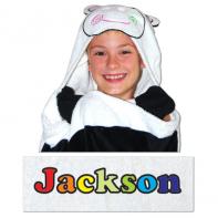 hooded cow towel