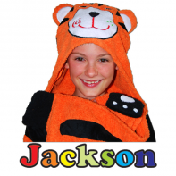 hooded tiger towel