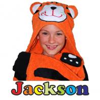 hooded tiger towel