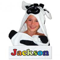 hooded zebra towel