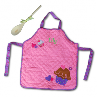 personalized cupcake apron and spoon