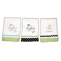 personalized burp cloths boy