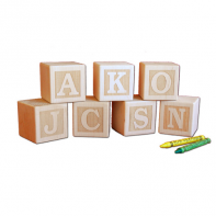 engraved letter blocks