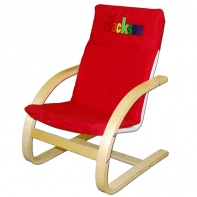 Personalized Embroidered Red Canvas Chair