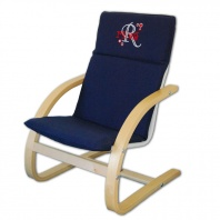 Personalized Embroidered Blue Canvas Chair